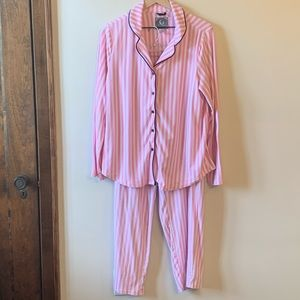 Super Soft Pink White Stripe Pajamas